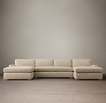 Preconfigured Petite Maxwell Upholstered U-Chaise Sectional