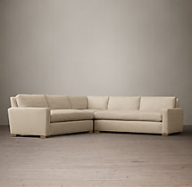 Preconfigured Petite Maxwell Upholstered Corner Sectional