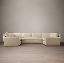 Preconfigured Petite Maxwell Upholstered U-Sofa Sectional