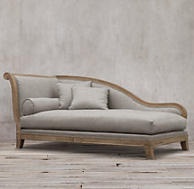 19th C. French Empire Fainting Upholstered Chaise