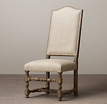 18th C. French Upholstered Armless Chair