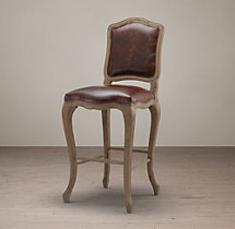 Vintage French Camelback Leather Stool