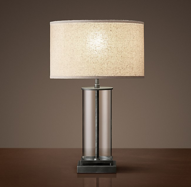 French Column Glass Accent Lamp