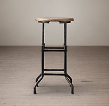 1920s American Factory Stool