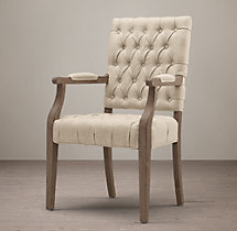 19th C. French Victorian Tufted Square Armchair