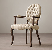 19th C. French Victorian Tufted Round Armchair
