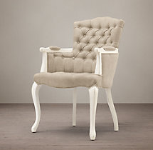 19th C. French Victorian Tufted Camelback Armchair