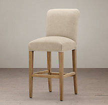 Hudson Roll-Back Fabric Stool