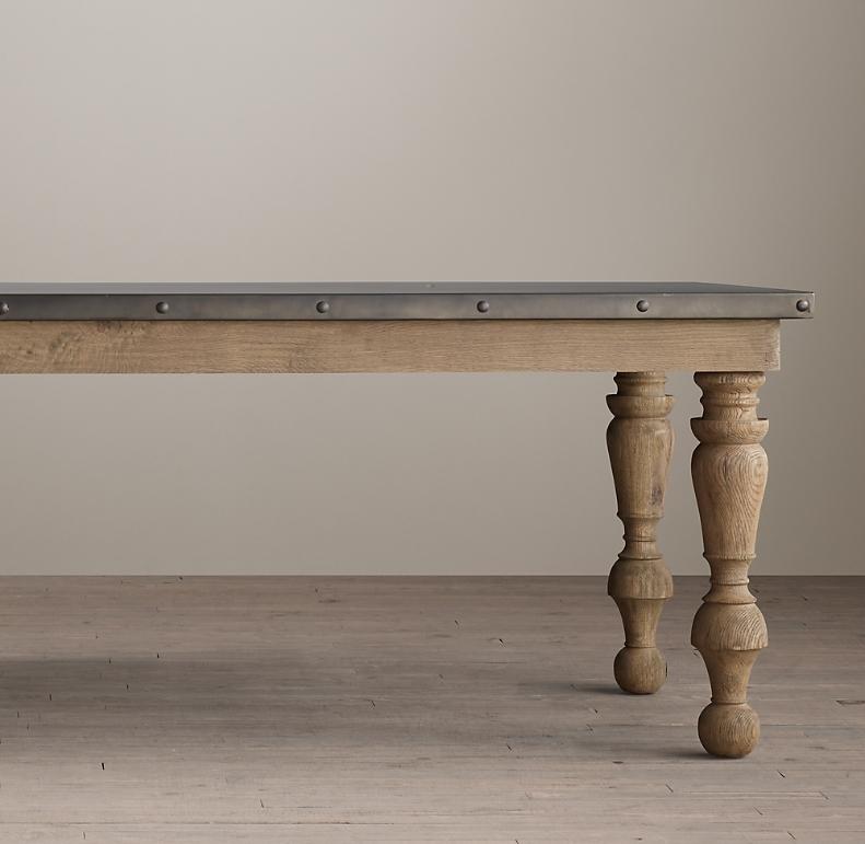 Zinc Baer Rectangular Dining Table