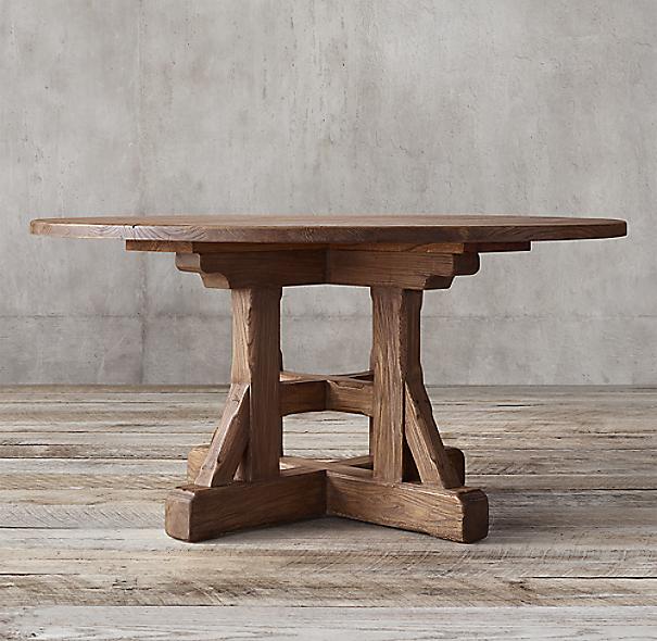 Circa 1900 Craftsman Round Dining Table