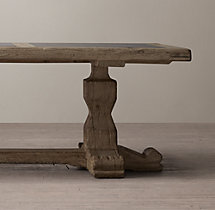 18th C. Reclaimed Pine & Bluestone Rectangular Dining Table