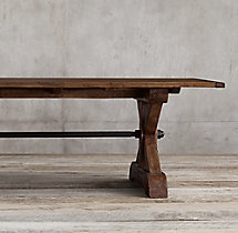 17th C. Ironbolt Trestle Rectangular Table
