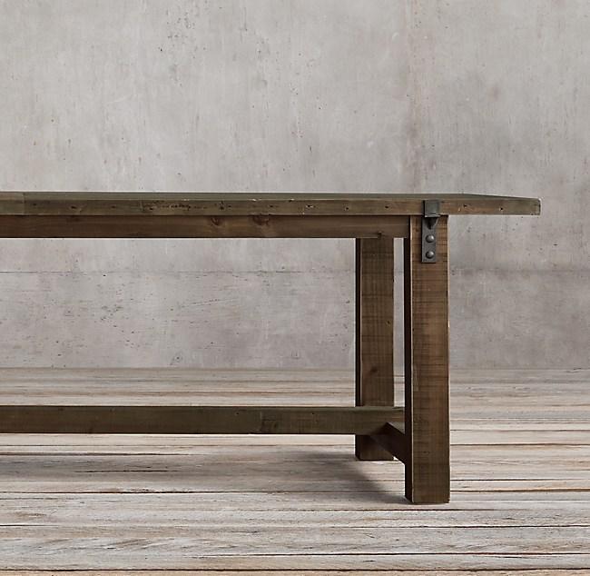 Reclaimed Wood   Zinc Strap Rectangular Dining Table. Wood   Zinc Strap Rectangular Dining Table