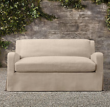 "59"" Belgian Slope Arm Outdoor Sofa"