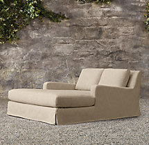 Belgian Slope Arm Outdoor Double Chaise