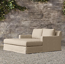 Belgian Track Arm Outdoor Double Chaise