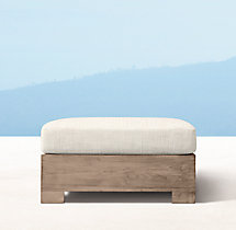 Belvedere Classic Ottoman - Weathered Teak