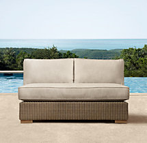 "44"" Biscayne Classic Two-Seat Armless Sofa Cushions"