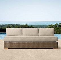 "66"" Biscayne Classic Three-Seat Armless Sofa Cushions"