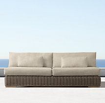 Majorca Luxe Two-Seat Armless Sofa Cushions