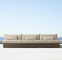 Majorca Classic Three-Seat Armless Sofa Cushions