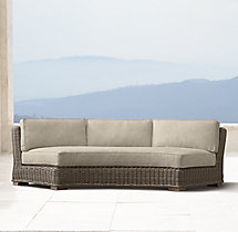 Provence Luxe Round Armless Sofa