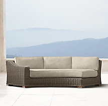 Provence Luxe Round Left-Arm Sofa