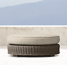 Provence Classic Round Ottoman Cushion