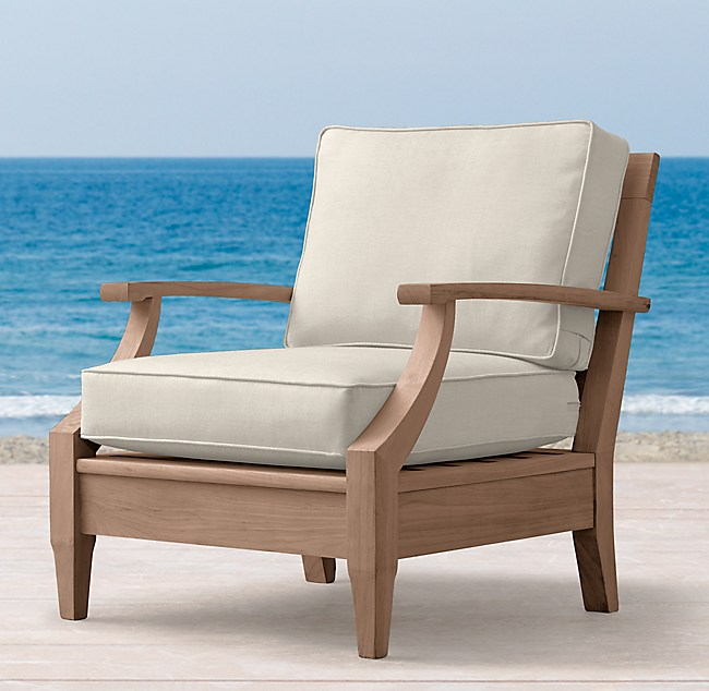 Wondrous Santa Monica Teak Classic Lounge Chair Onthecornerstone Fun Painted Chair Ideas Images Onthecornerstoneorg