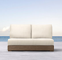 Costa Classic Two-Seat Armless Sofa