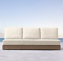 Costa Classic Three-Seat Armless Sofa