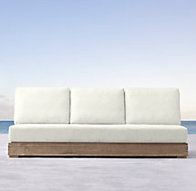 Costa Classic Three-Seat Armless Sofa Cushions