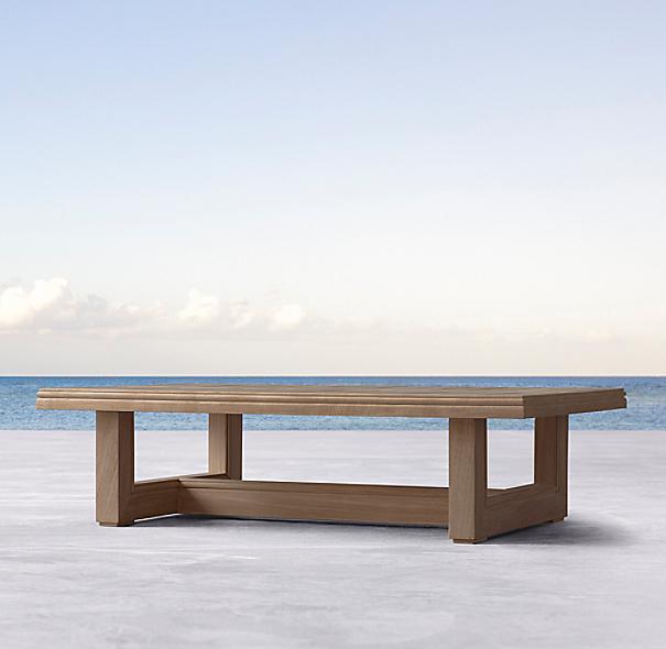 Simple Elegant Costa Teak Rectangular Coffee Table COLOR PREVIEW UNAVAILABLE Elegant - Cool restoration hardware coffee table New