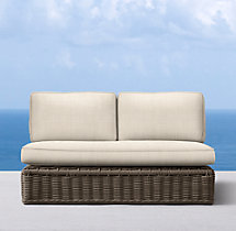 "54"" Sorrento Two-Seat Armless Sofa Cushions"