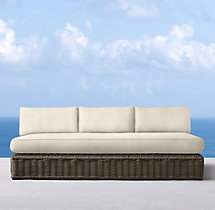 Sorrento Three-Seat Armless Sofa Cushions