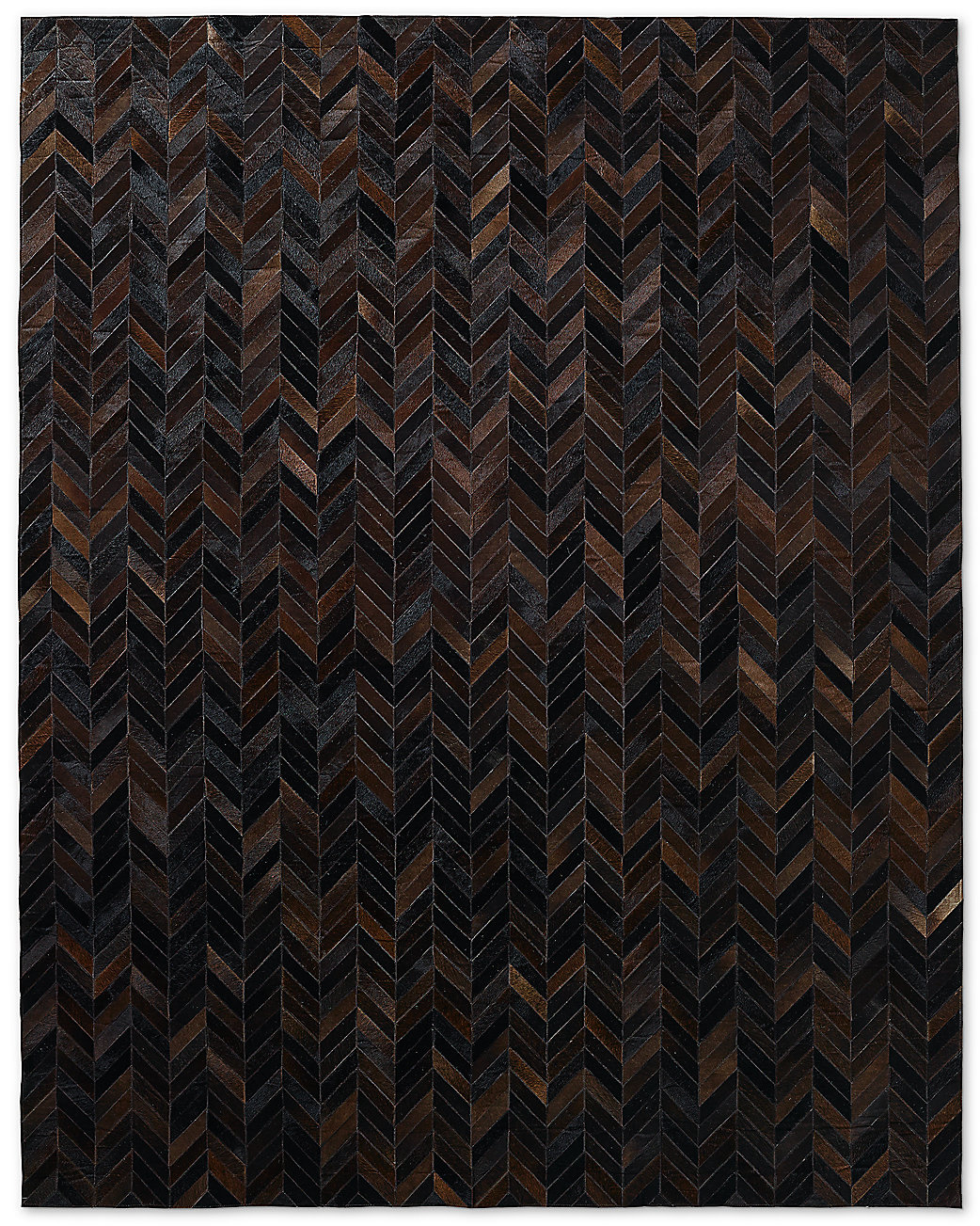 Chevron Cowhide Rug - Charcoal