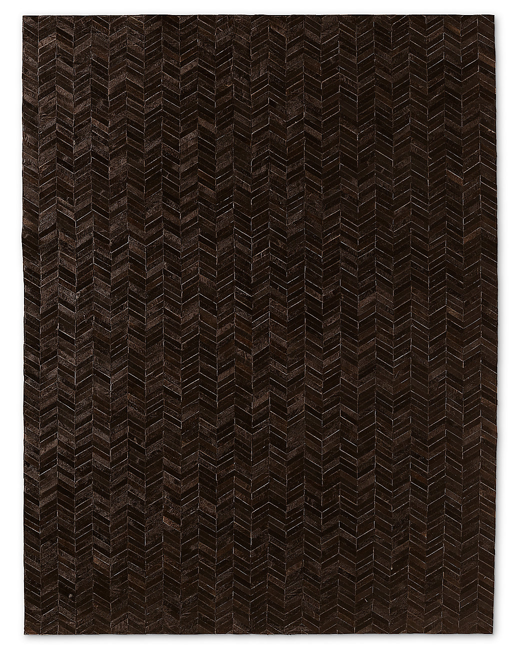 Chevron Cowhide Rug - Chocolate