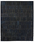 Etched Porta Tile Cowhide Rug - Navy