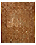 Etched Scallop Cowhide Rug - Caramel