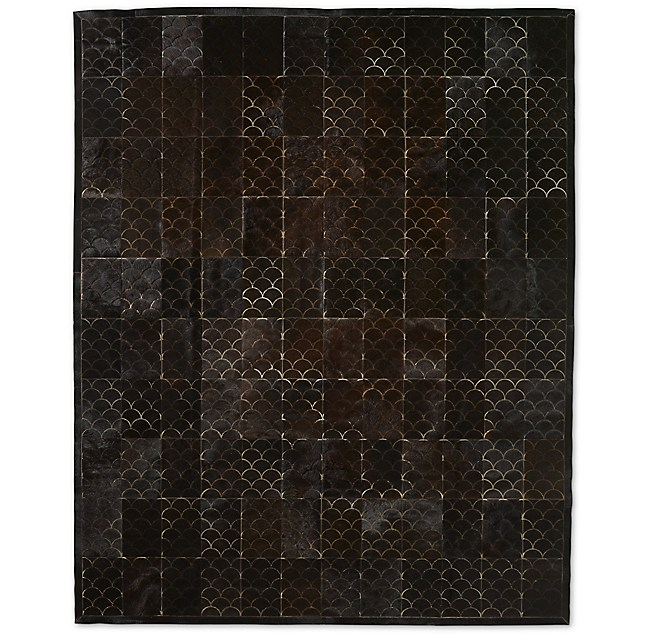 Etched Scallop Cowhide Rug