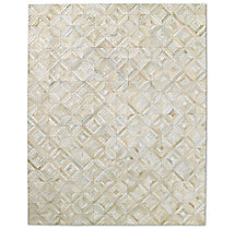 Diamond Cowhide Rug - Ivory