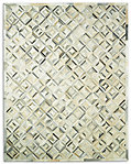 Diamond Cowhide Rug - Grey