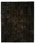 Etched Moroccan Tile Cowhide Rug - Chocolate