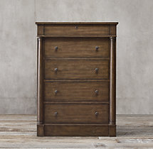 Early 19th C. American 5-Drawer Narrow Dresser