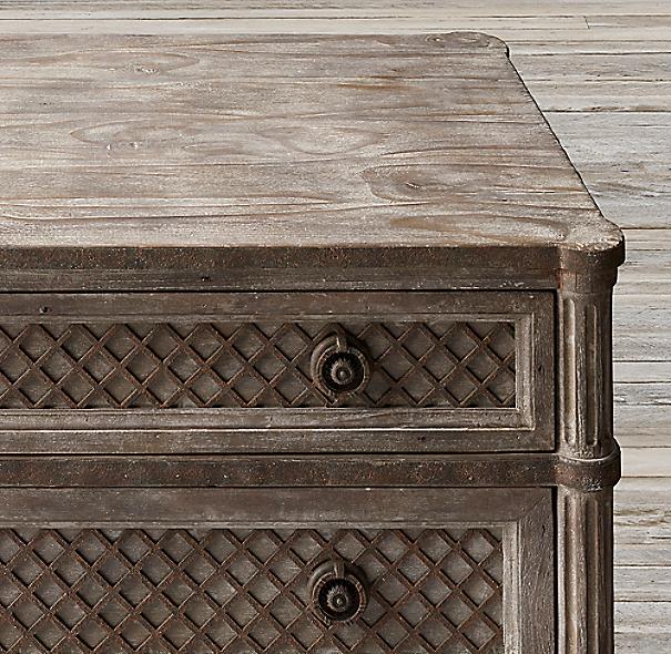 Restoration Hardware Louis Xvi Dresser: Louis XVI Treillage 5-Drawer Narrow Dresser
