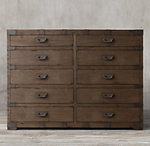 Heirloom Silver-Chest 10-Drawer Dresser