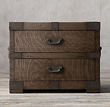 "30"" Heirloom Silver-Chest Closed Nightstand"
