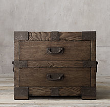 "32"" Heirloom Silver-Chest Closed Nightstand"