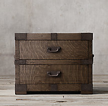 "Heirloom Silver-Chest 32"" Closed Nightstand"