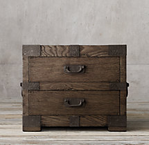 "Heirloom Silver-Chest 30"" Closed Nightstand"